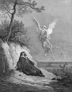 1870 Engraving of the Prophet Elijah